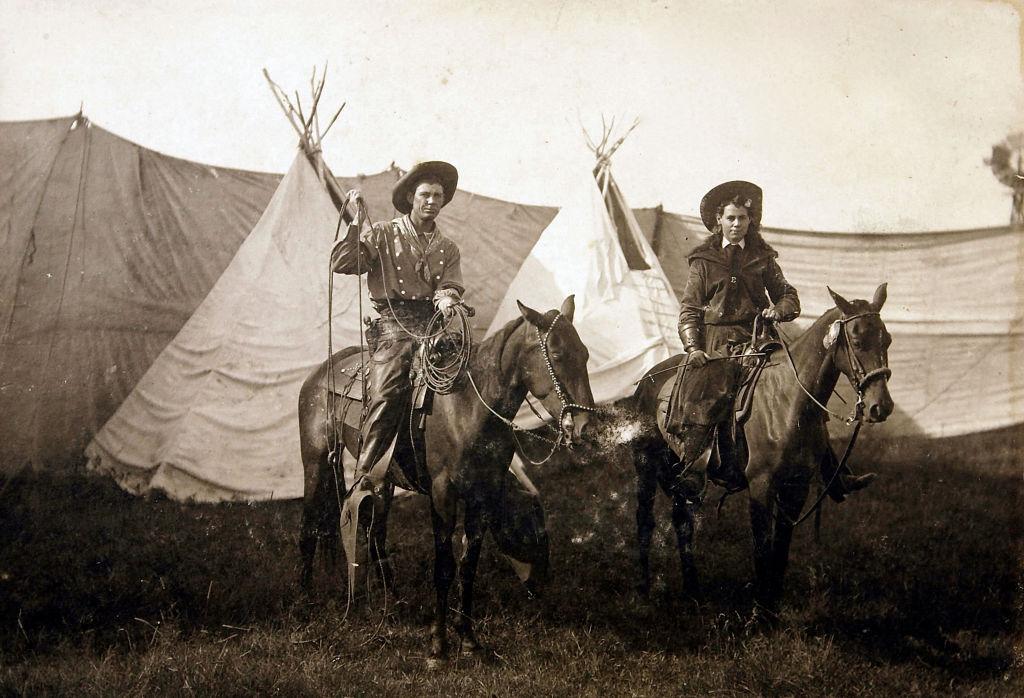 May Mackey and cowboy