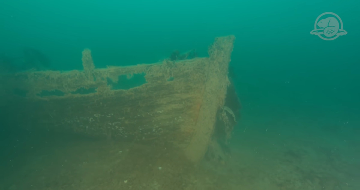 this is what the hms terror looked like at the bottom of the ocean