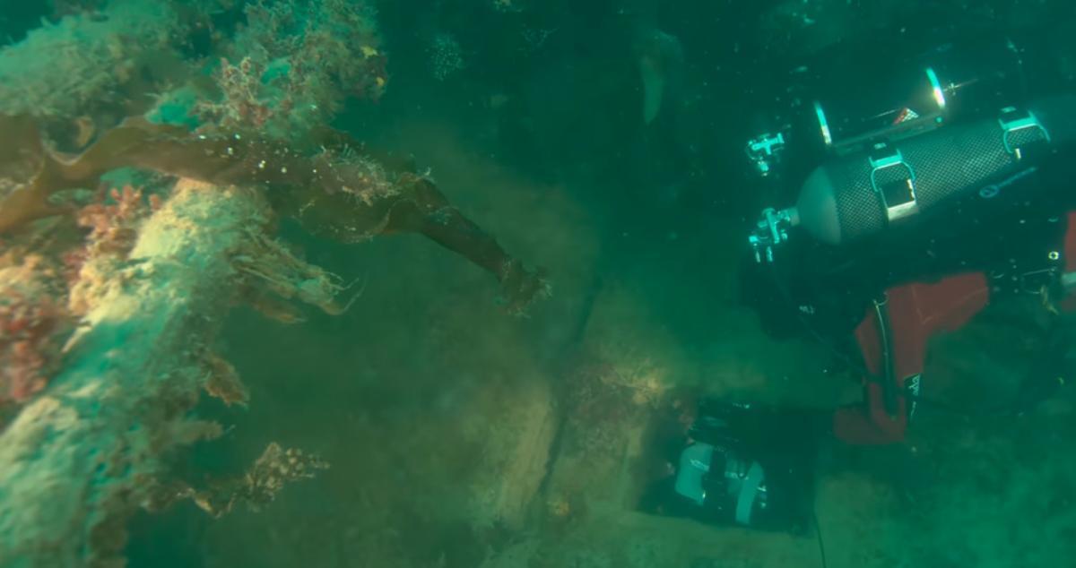 diver exploring the hms terror