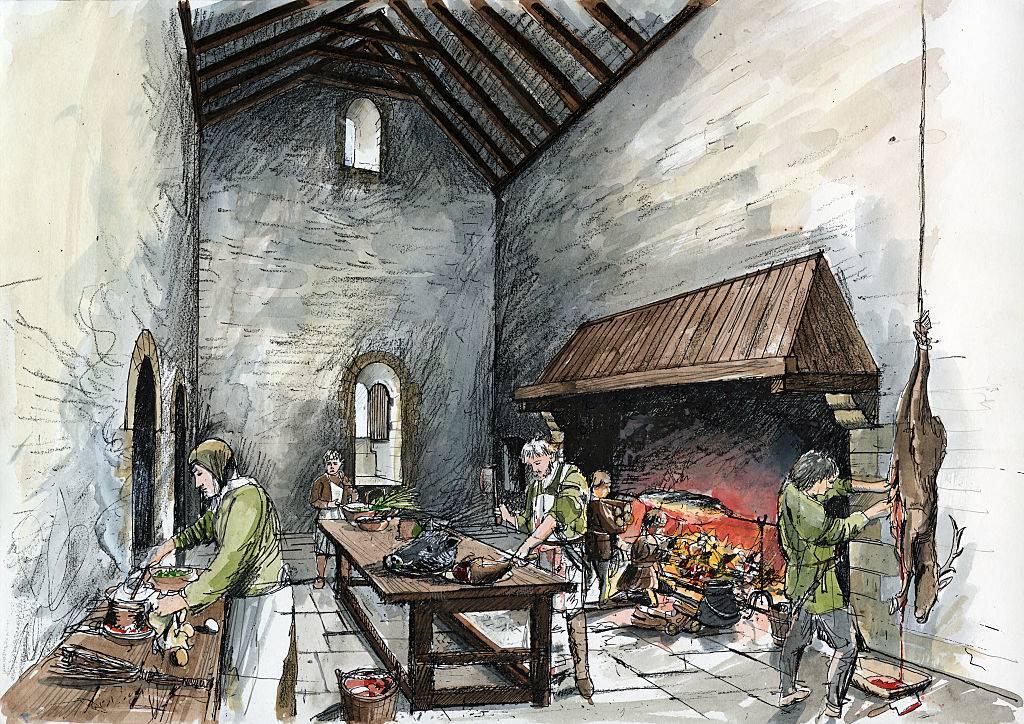 Servants in the kitchen
