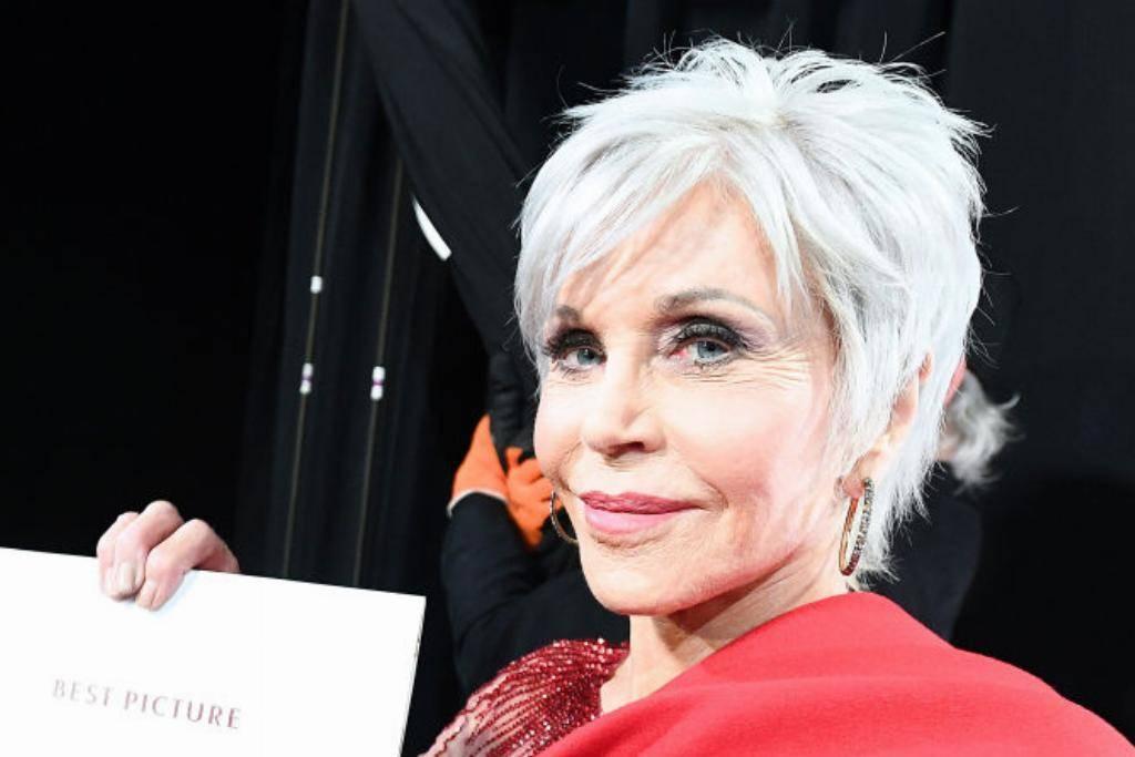 Jane Fonda with white hair
