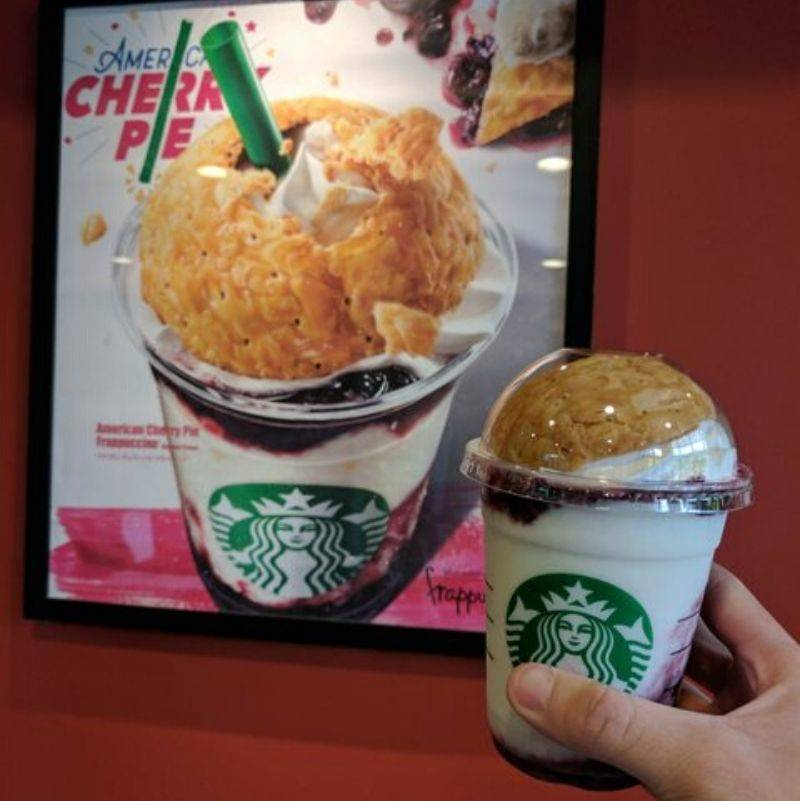 a cherry pie frap that actually looks like the picture