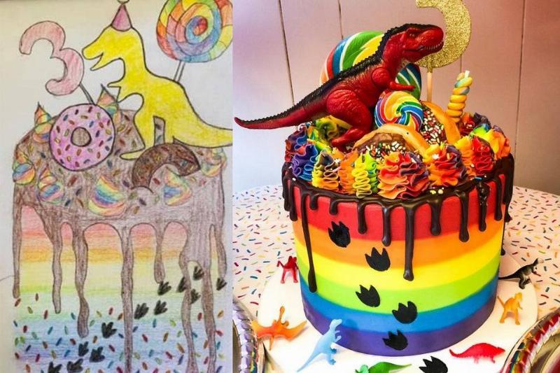 someone made an amazing dino cake