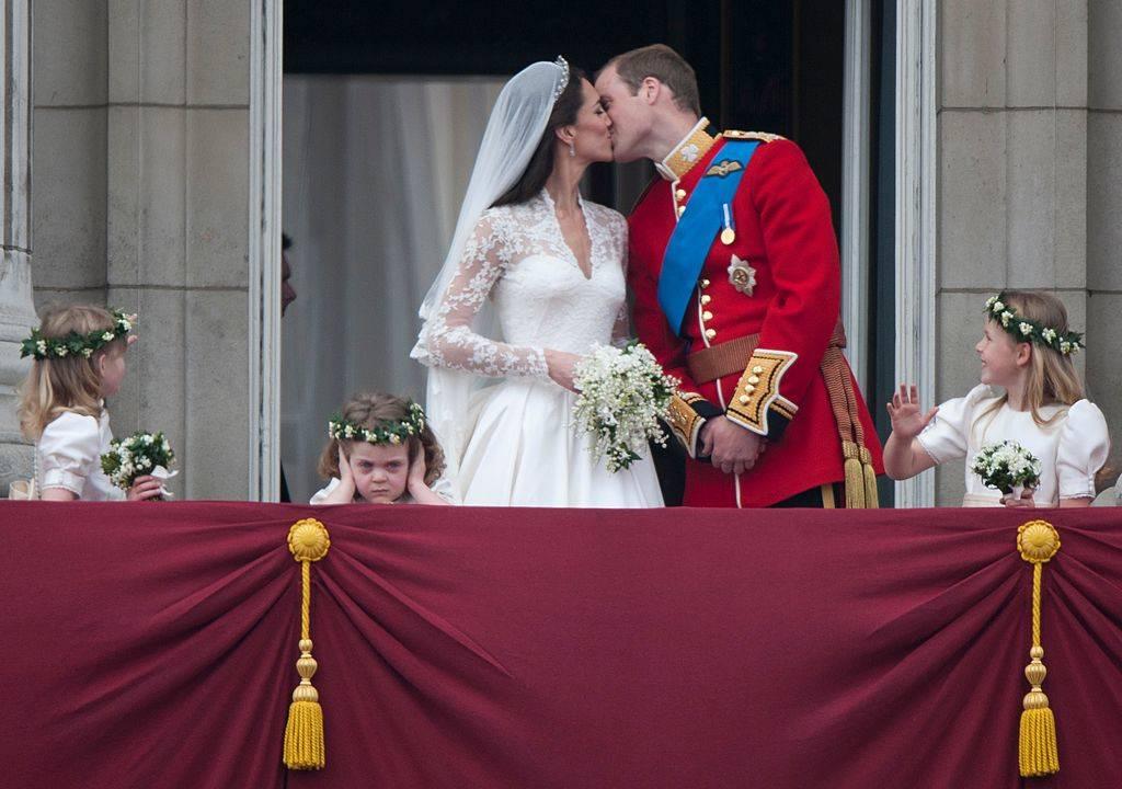 Catherine, Duchess of Cambridge and Prince William, Duke of Cambridge on the balcony at Buckingham Palace