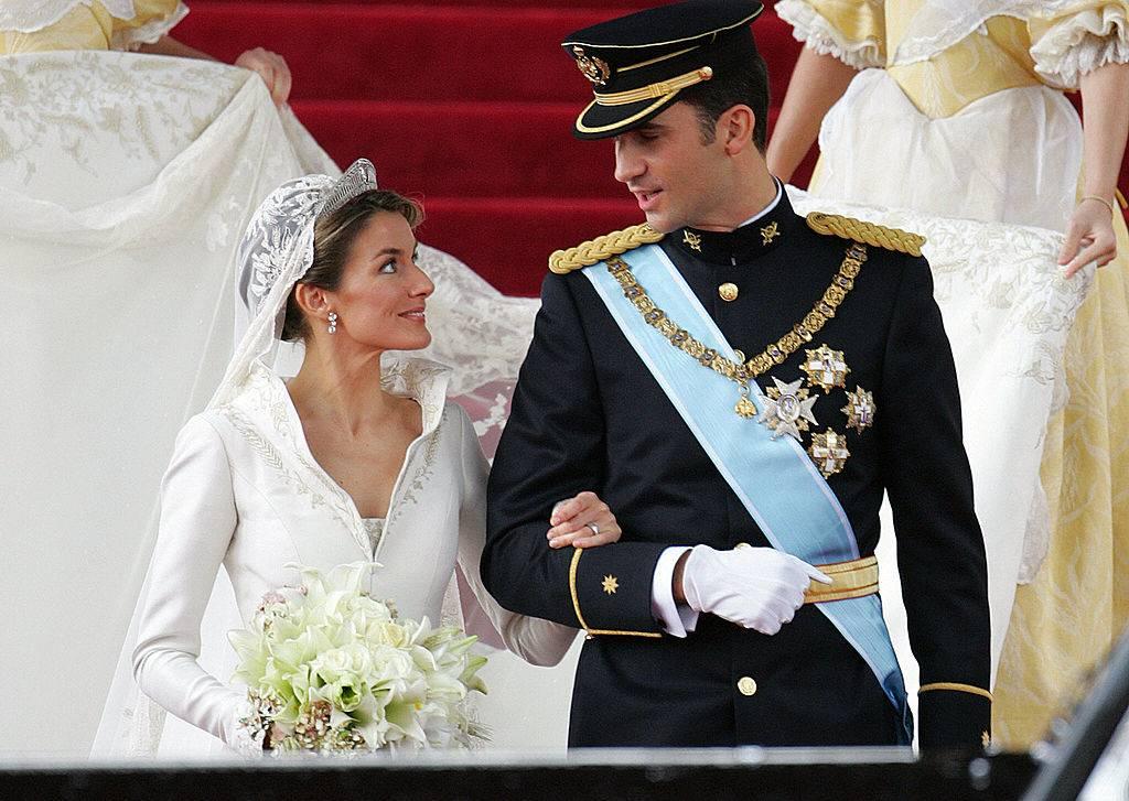Princess of Asturias Letizia Ortiz and her husband Spanish Crown Prince Felipe of Bourbon