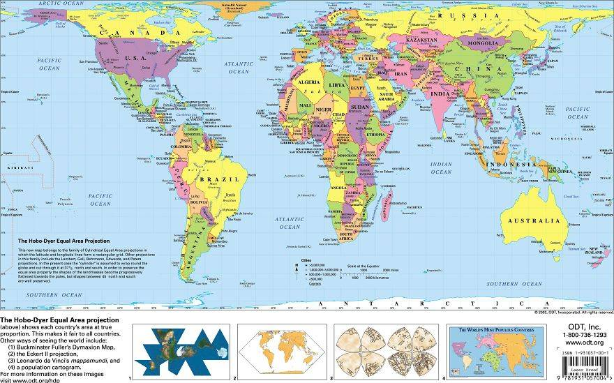 An Actual World Map with correct landmass sizes