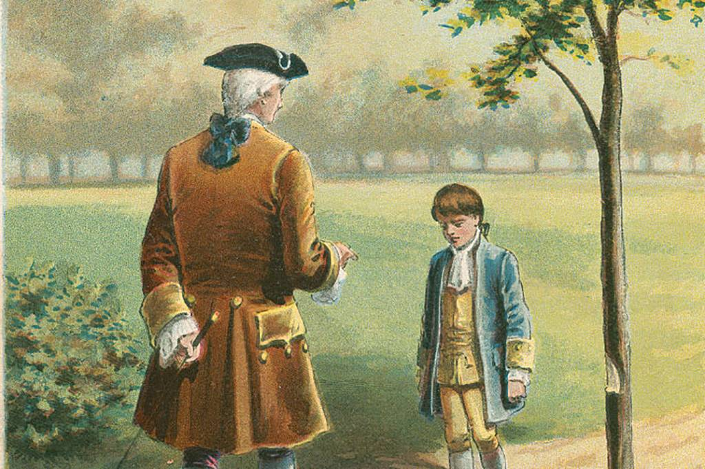George Washington and his father