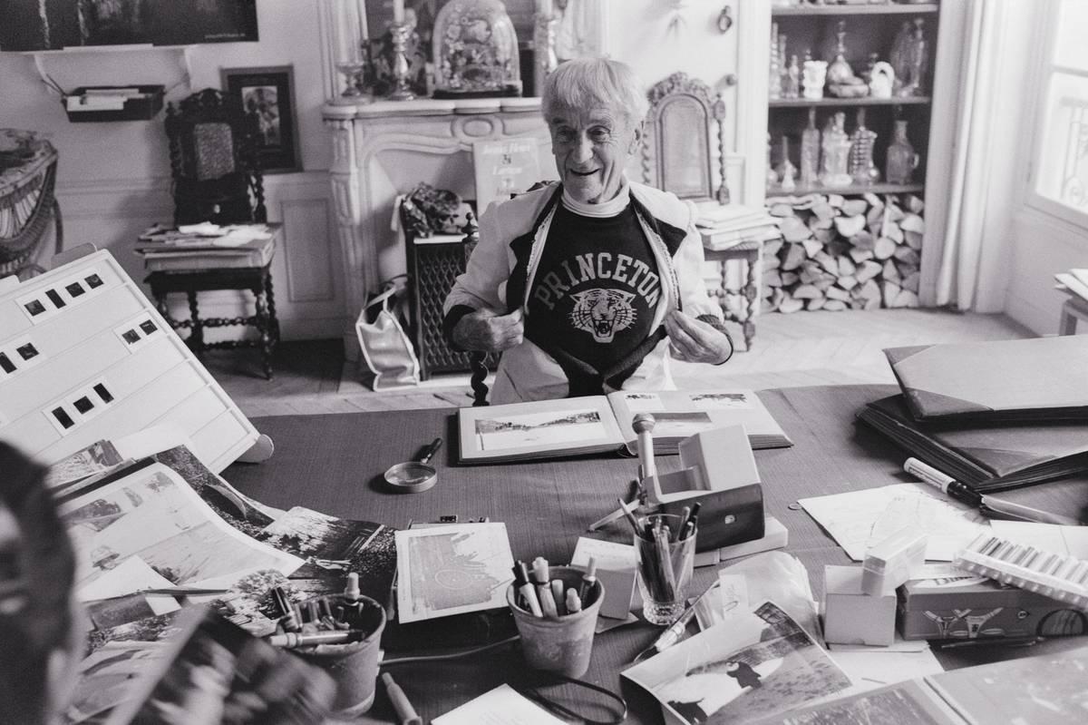 Photographer Jacques-Henri Lartigue at Home
