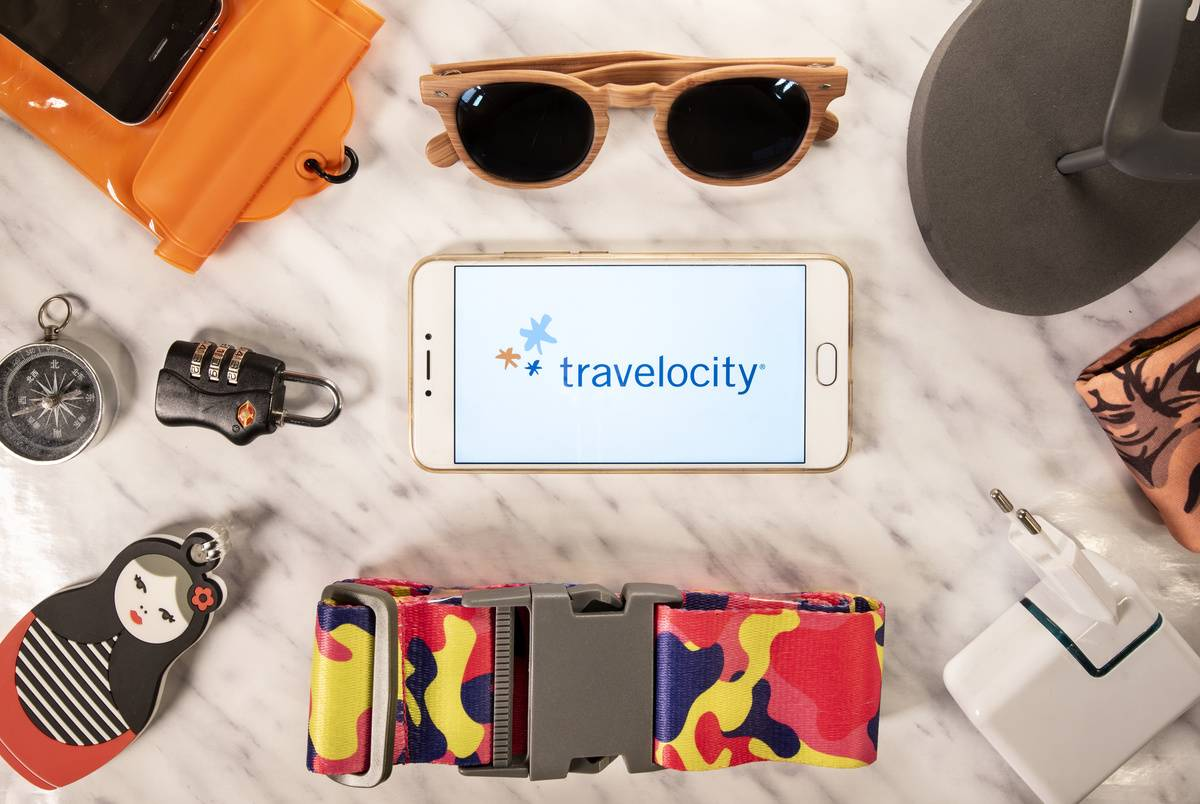 American travel agency owned by Expedia Group, Travelocity,